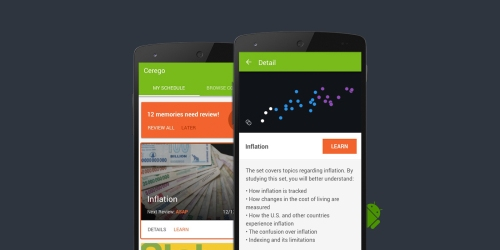 Cerego for Android mobile